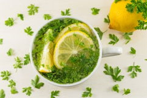 lemon parsley water help with belly fat