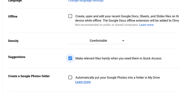 How to remove quick access from Google Drive - Quora