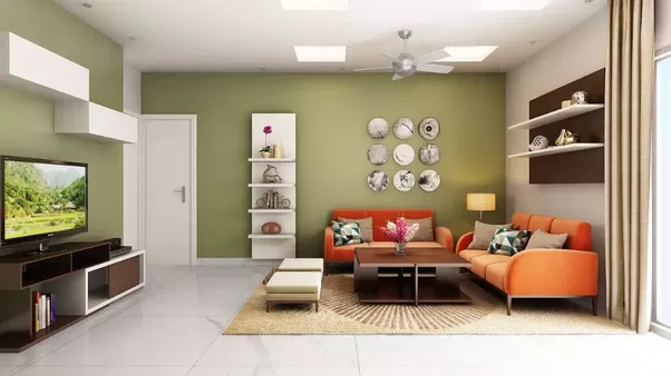what color paint goes well with an orange couch quora. Black Bedroom Furniture Sets. Home Design Ideas