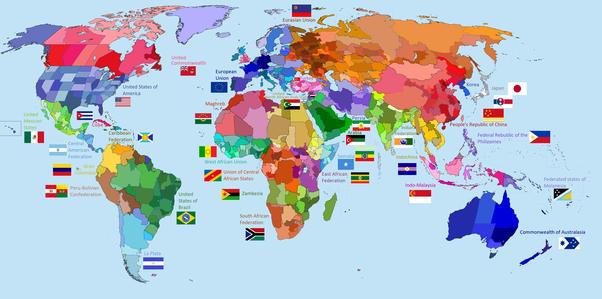 Cartina Mondiale Stati.Se Solo 35 Nazioni Fossero Consentite Come Ridisegneresti La Mappa Del Mondo Quora
