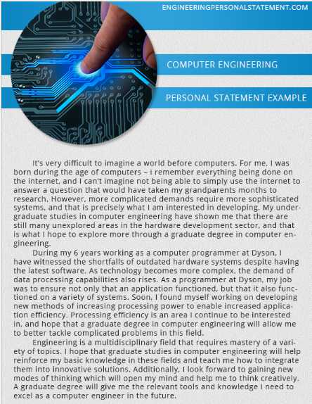 Computer engineering admission essay