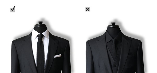 What shirt and tie combination should i wear with black for Black suit with black shirt and tie