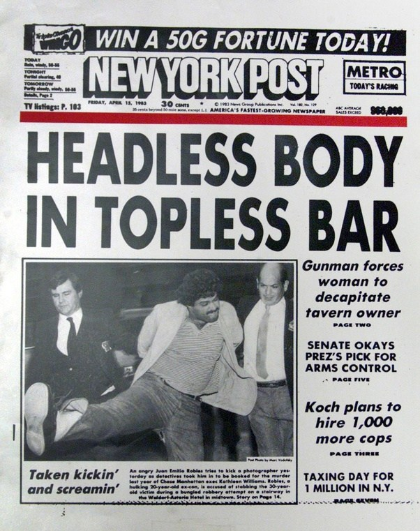 What Front Page Newspaper Cover Had The Most