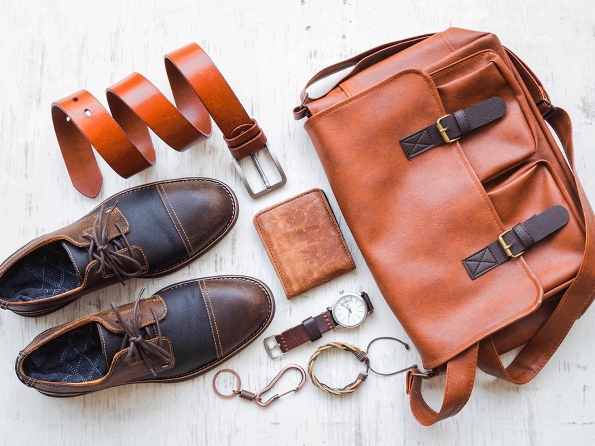 τσάντα, ζώνη, παπούτσια