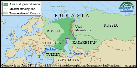 Geography In The News Eurasias Boundaries National Geographic Blog - Where is asia