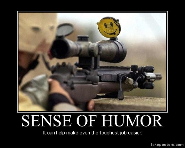 A sense of humor is essential