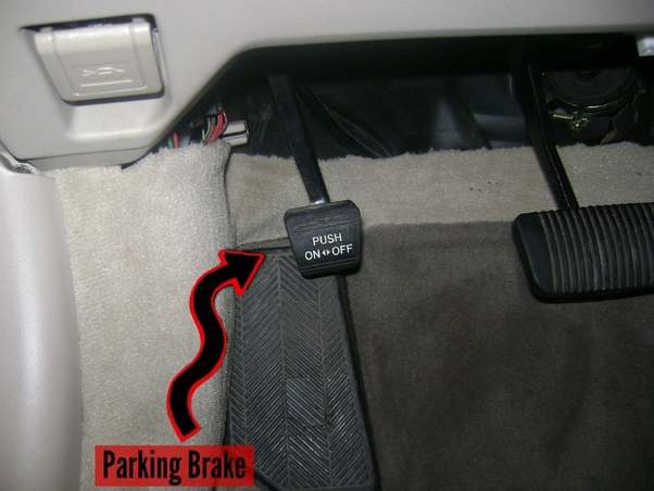 As It Says In The Picture That Pedal Is Used To Set Or Release Parking Brake
