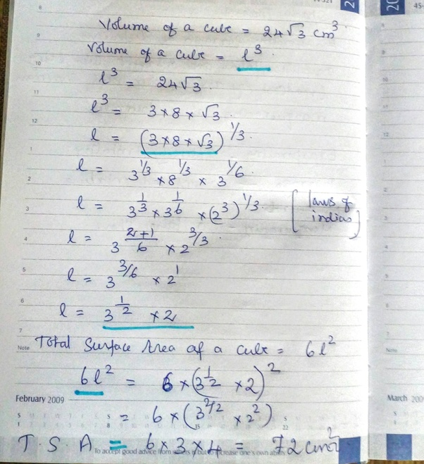 how to find surface area of a cube