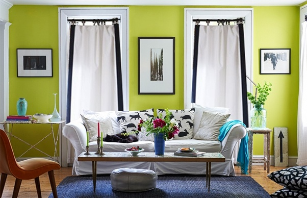 Interior Design Do black eyelet curtains match with lime green