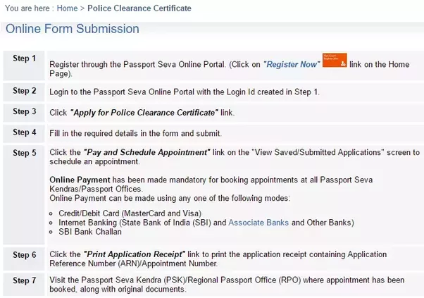 What is the process for a police clearance certificate in india my 2 youll need to make a payment of inr 500 while making your online payment altavistaventures Images