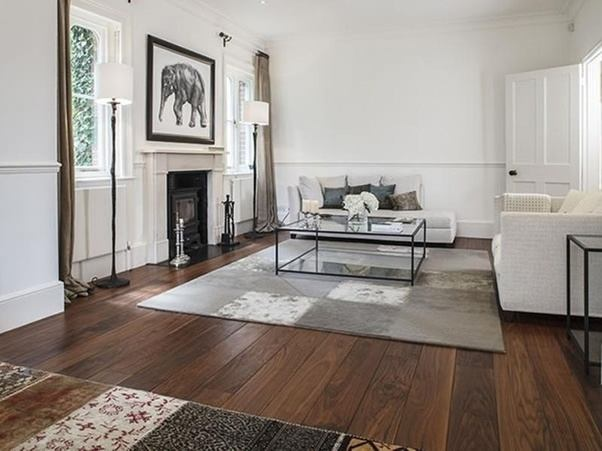 one advantage a hardwood floor in the living room does offer is the possibility of flooring continuity throughout the rest of your home - Living Room Hardwood Floor Ideas