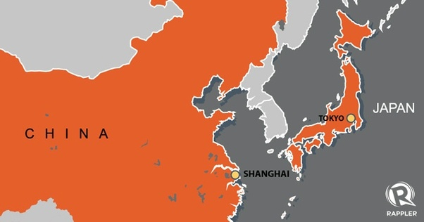 Is tokyo in china quora heres a map that shows tokyo in japan it shows how there is a sea between japan and china gumiabroncs Choice Image