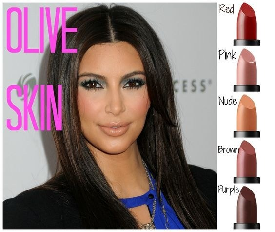 You Can Opt For Nude Pinks And Watermelon Shade Pink Some Other Shades That Compliment Olive Skin Tone Are