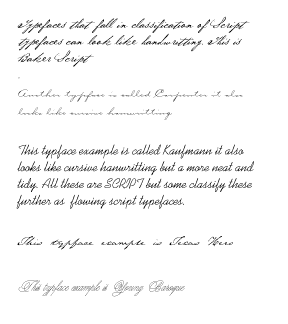 What Fonts Look Like Cursive