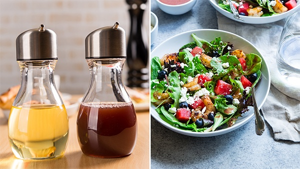 how to mix oil and vinegar for dressing