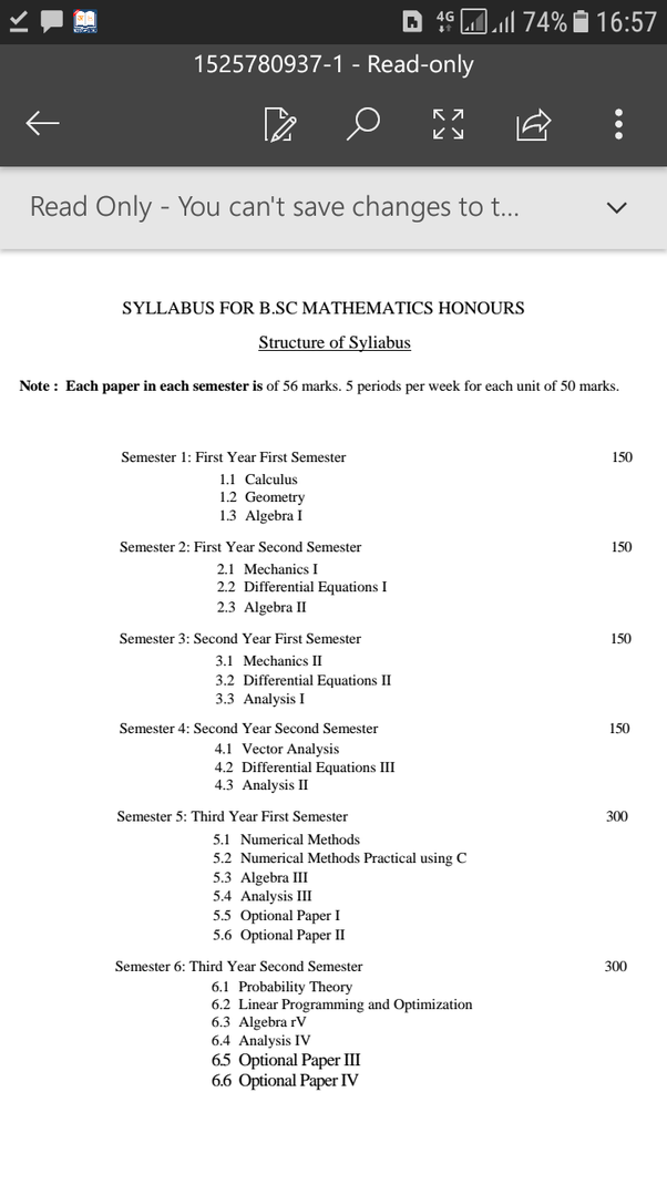 What is the syllabus of bsc maths at Allahabad university