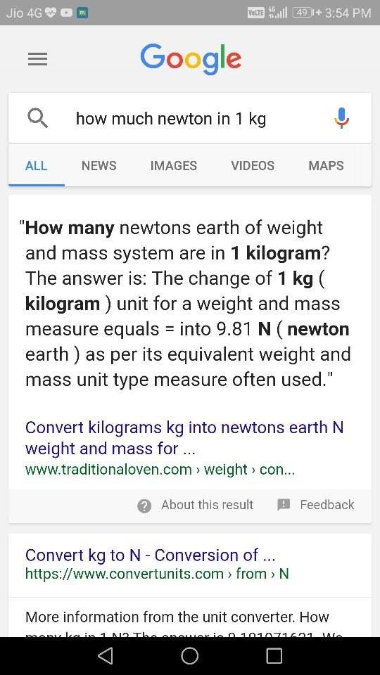 Newton Kg Muunnin