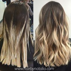 Difference between ombre balayage