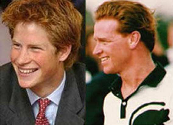 Diana S Son Prince Harry Left And Major James Hewitt Right With Whom Admitted Having An Erous Relationship