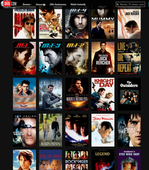 Why are there so few Tom Cruise movies on Netflix? - Quora