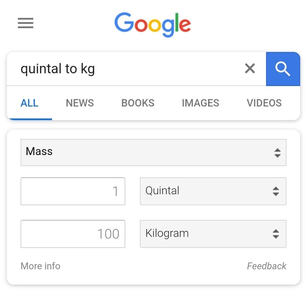 How Many Kg Is In 1 Quintal Quora