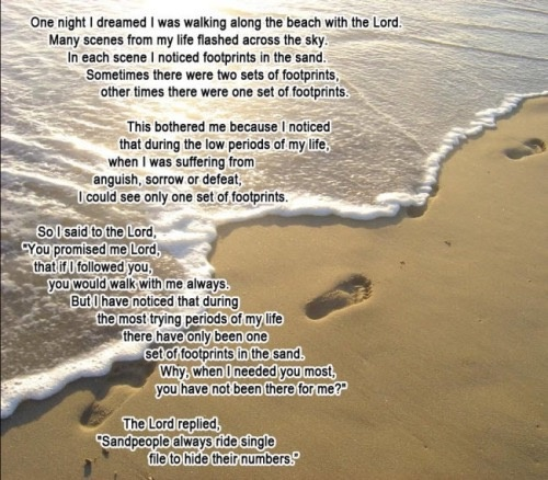 photo regarding Footprints Poem Printable called What are the scripture verses more than footprints within the sand