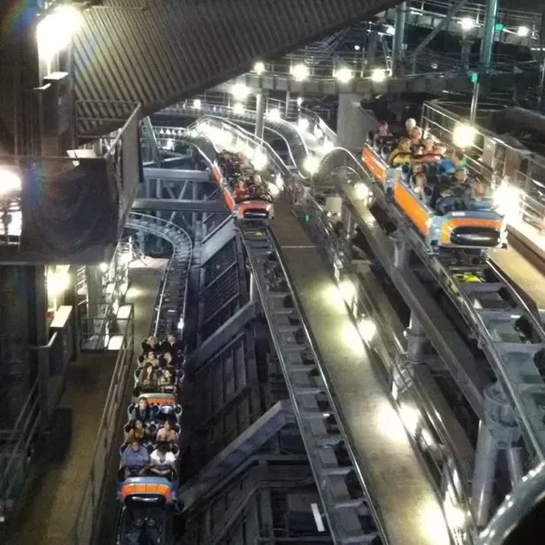 How does Space Mountain look with lights on? - Quora