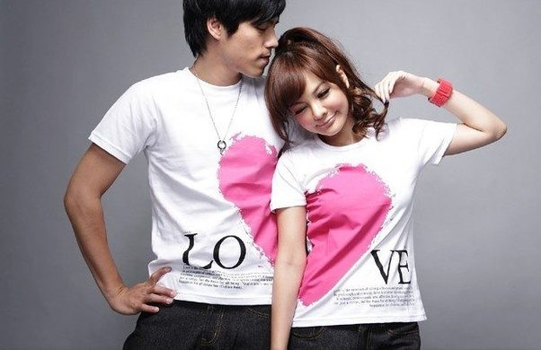 My girlfriend and I wore the shirts shown in the pic above and everyone was  giving comments about how cute it was, some girls even looked at their (I  am ...
