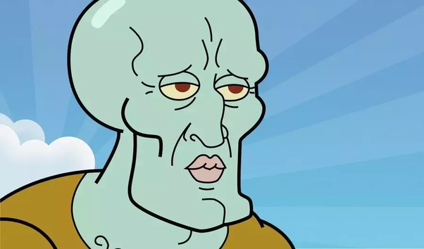 Intimidatingly handsome squidward