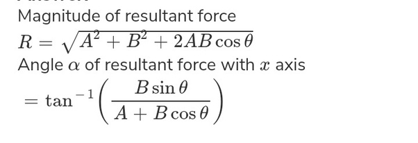Finding a resultant vector - YouTube |Magnitude Two Vectors Formula