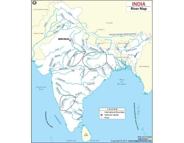 Which river flows from south to north except chambal quora these 3 rivers are encircled in following map gumiabroncs Gallery