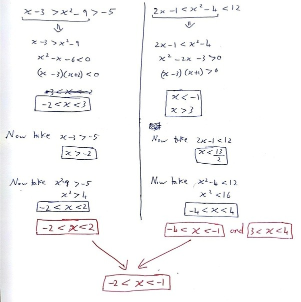 For What Range Of Values Of X Is The Inequalities X 3x2 9 5 And