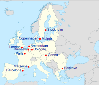 Which Countries In Europe Are Muslim Majority Quora - Europe map with cities and countries