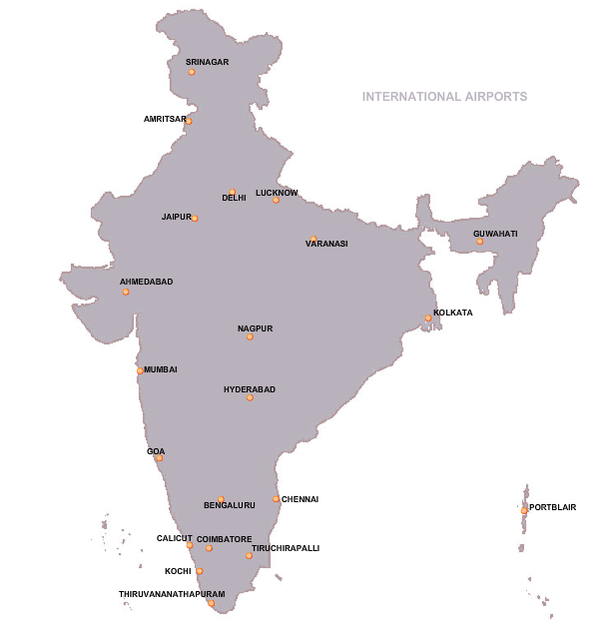 Does india have airports quora map credits airport authority of india gumiabroncs Images