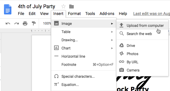 How to move an image in Google docs - Quora