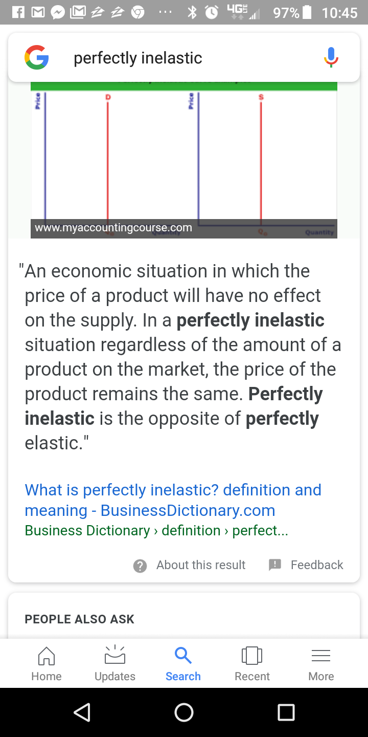What Does Perfectly Elastic Supply Mean What Are Some Examples Quora