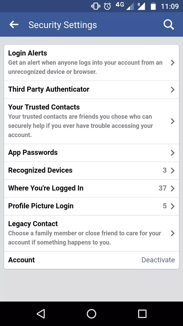 How to figure out which other device you might be logged into and are actively using the account and the last log in data etc for example the facebook screen to check all these data would look something like this ccuart Image collections
