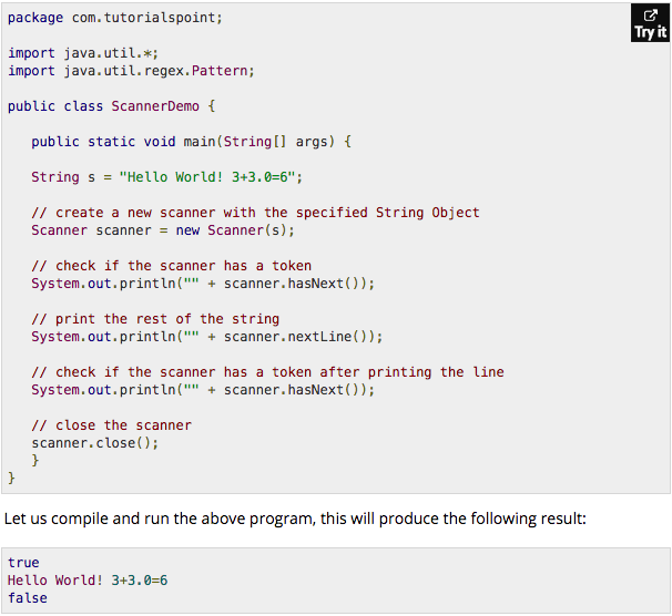 Java scanner hasnext not working