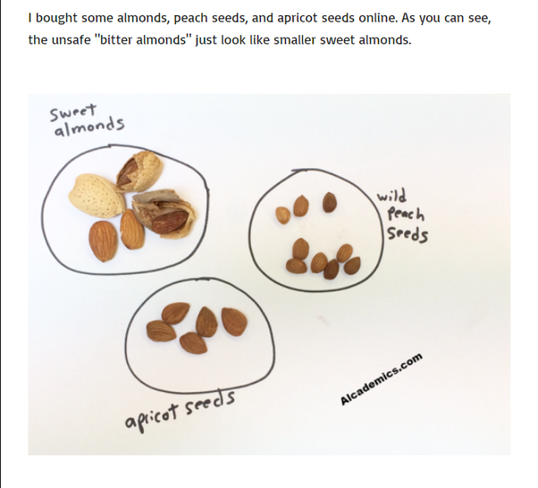 how to extract cyanide from almonds