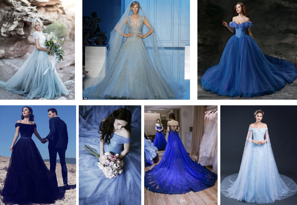 Can I wear a blue dress to my own wedding? I am the bride. - Quora