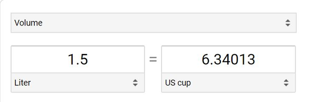 How many cups are in 1 5 litres of water? - Quora
