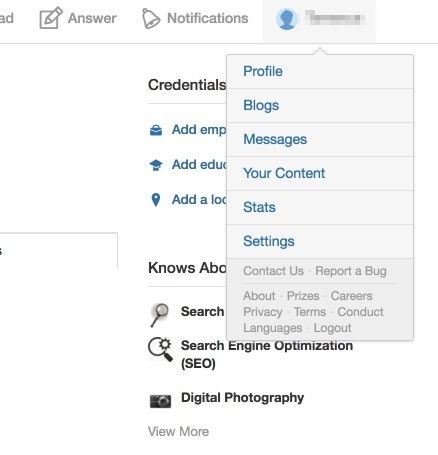 How to create a blog on quora quora click on your profile name in the far right corner youll see an option that says blogs click it fandeluxe Images
