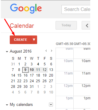 how to create an invitation in google calendar