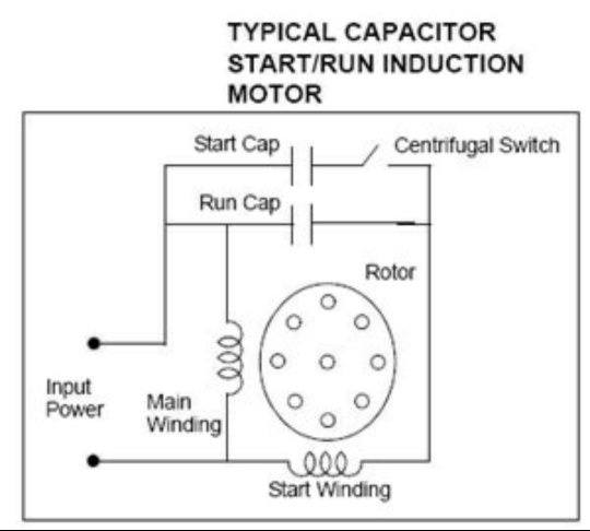 is capacitor connected parallel or series to fan