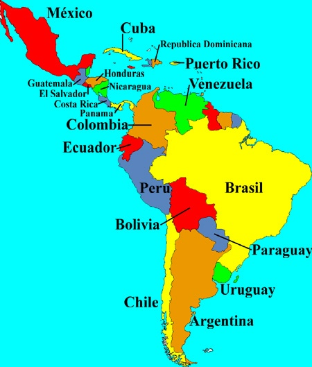Latin America South America Map.Is Latin America And South America The Same Continent Quora