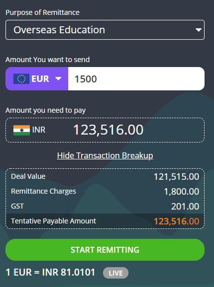 Send Money From India To Germany