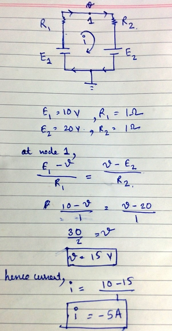 What is the resultant EMF of two cells in a parallel combination ...