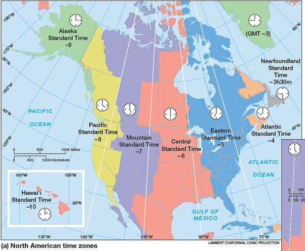 What is a mountain time zone map? - Quora