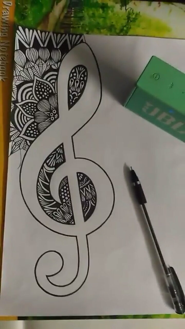 In my opinion this is my best doodle till now it took more than 30hrs to get completed and it has been made using normal black ball pen