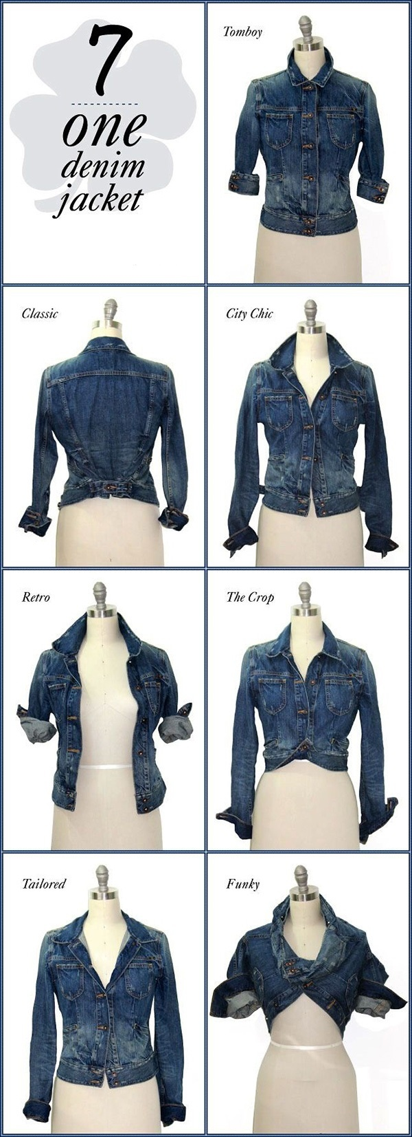 72cbd8a7d49 7-Style your Denim Jacket Several ways are there to wear one denim jacket.Follow  the image and slay with your look.